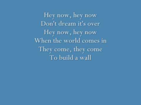 Crowed House - Don't Dream It's Over (lyrics)