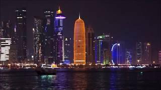 Amazing View of Qatar's Building Skyscrapers at Night | Qatar Skyline