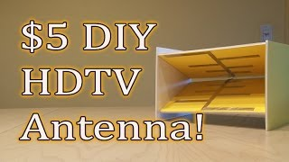 $5 DIY HDTV Antenna! Get FREE TV!