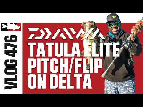 Ish Monroe Fishing The Daiwa Tatula Elite Pitch/Flip On The Delta - Tackle Warehouse VLOG #476