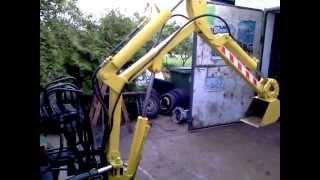 Spycho - koparka własnej konstrukcji SAM DIESEL sam koparka digger selfmade excavator