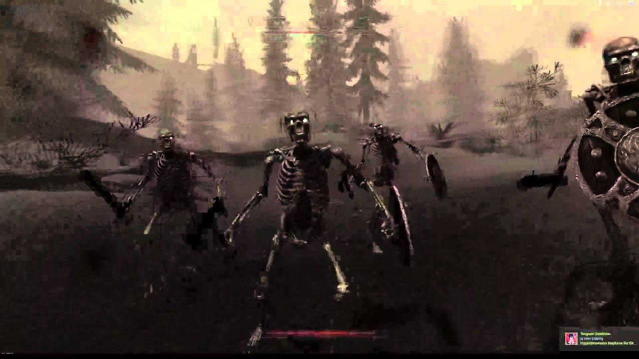 Skyrim skeleton sound replacement - YouTube
