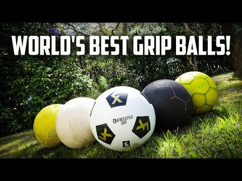 GRIPPIEST FOOTBALL IN THE WORLD?! [Grip Ball Comparison]