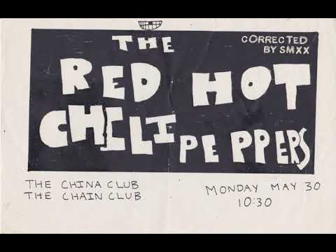 The Red Hot Chili Peppers - Live at China Club (30 May 1983), Correct speed audio