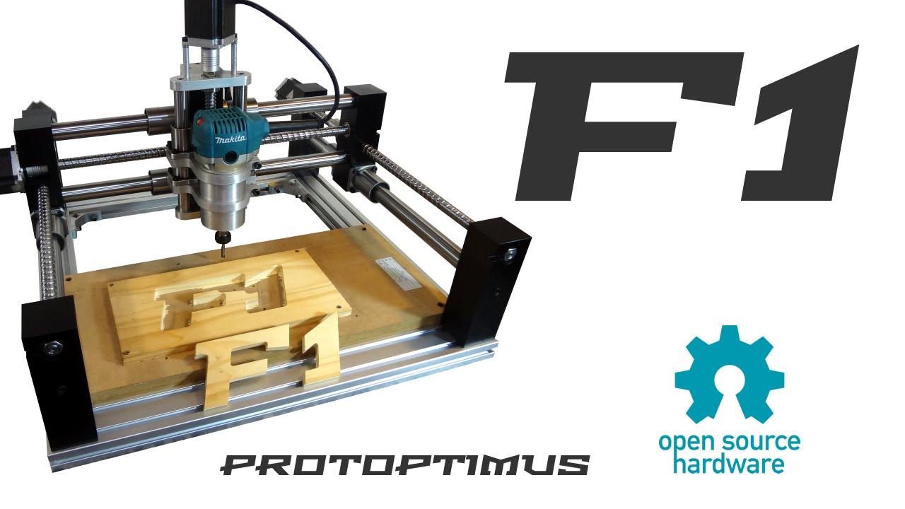 Protoptimus F1 - Router Fresadora CNC Open Source