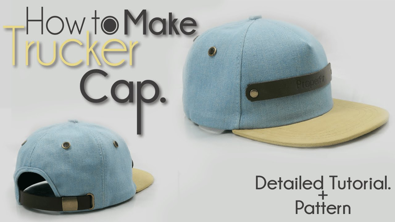 Official How To Make Trucker Hat New Youtube