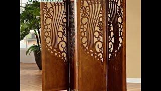 Декоративные деревянные перегородки и ширмы для комнаты.