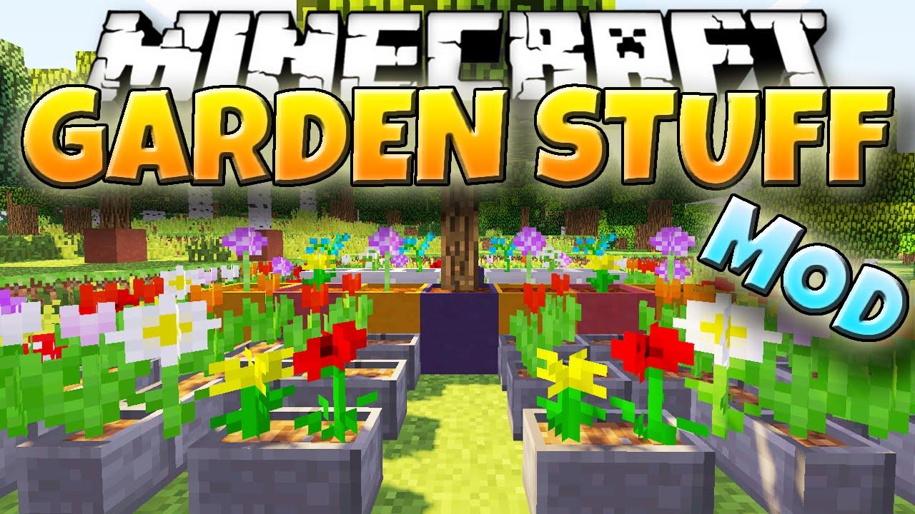 Minecraft mod garden stuff new garden tools and blocks for 9minecraft decoration mod