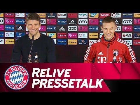 FC Bayern-Pressetalk zur CL-Auslosung mit Kimmich, Süle & Müller | ReLive