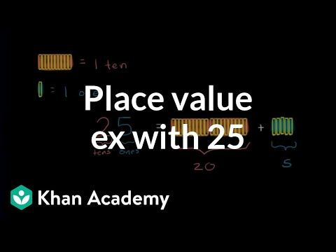 Place Value Example With 25 | Place Value (tens And Hundreds) | Early Math | Khan Academy