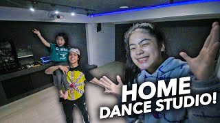 We BUILT A Home DANCE STUDIO!! (Dance Battle with natalia) | Ranz and Niana
