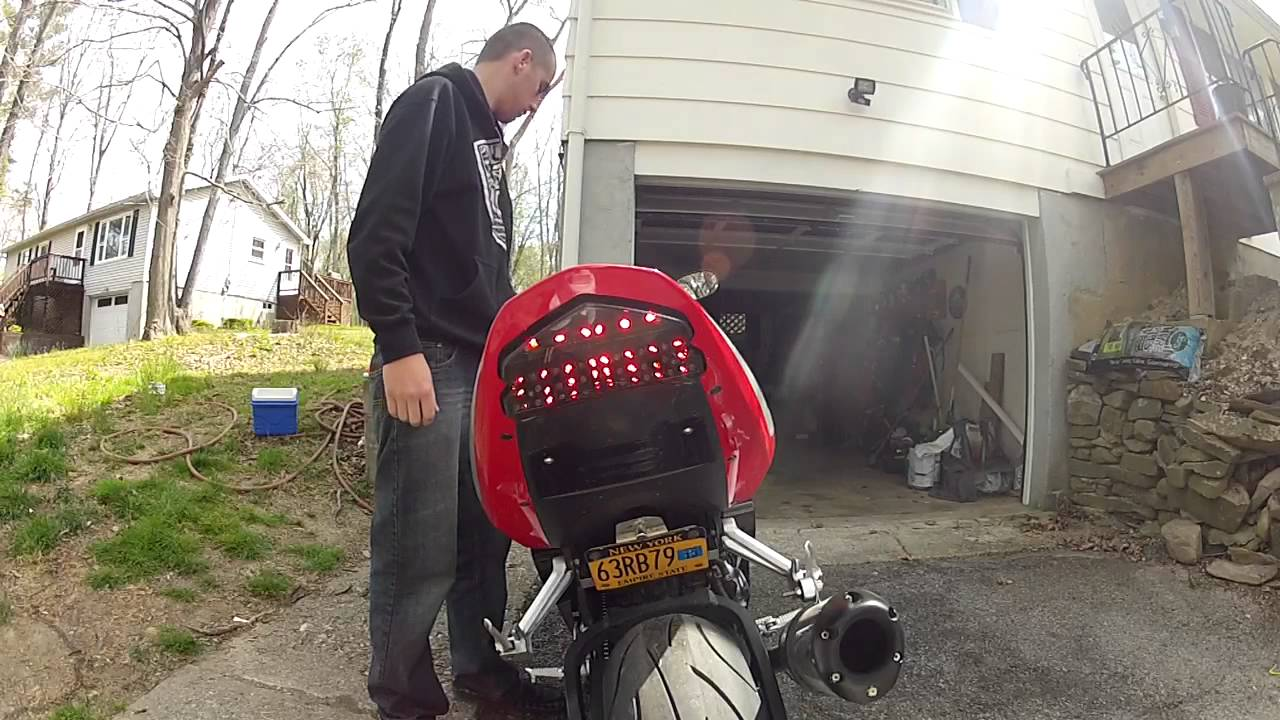 2005 gsxr 600 integrated tail light  gopro 2 hd