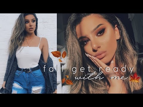 Get Ready With Me! - MAKEUP, HAIR & OUTFIT | FALL CASUAL + HUGE ANNOUNCEMENT! AD