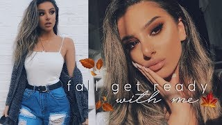 Get Ready With Me! - MAKEUP, HAIR & OUTFIT | FALL CASUAL + HUGE ANNOUNCEMENT!