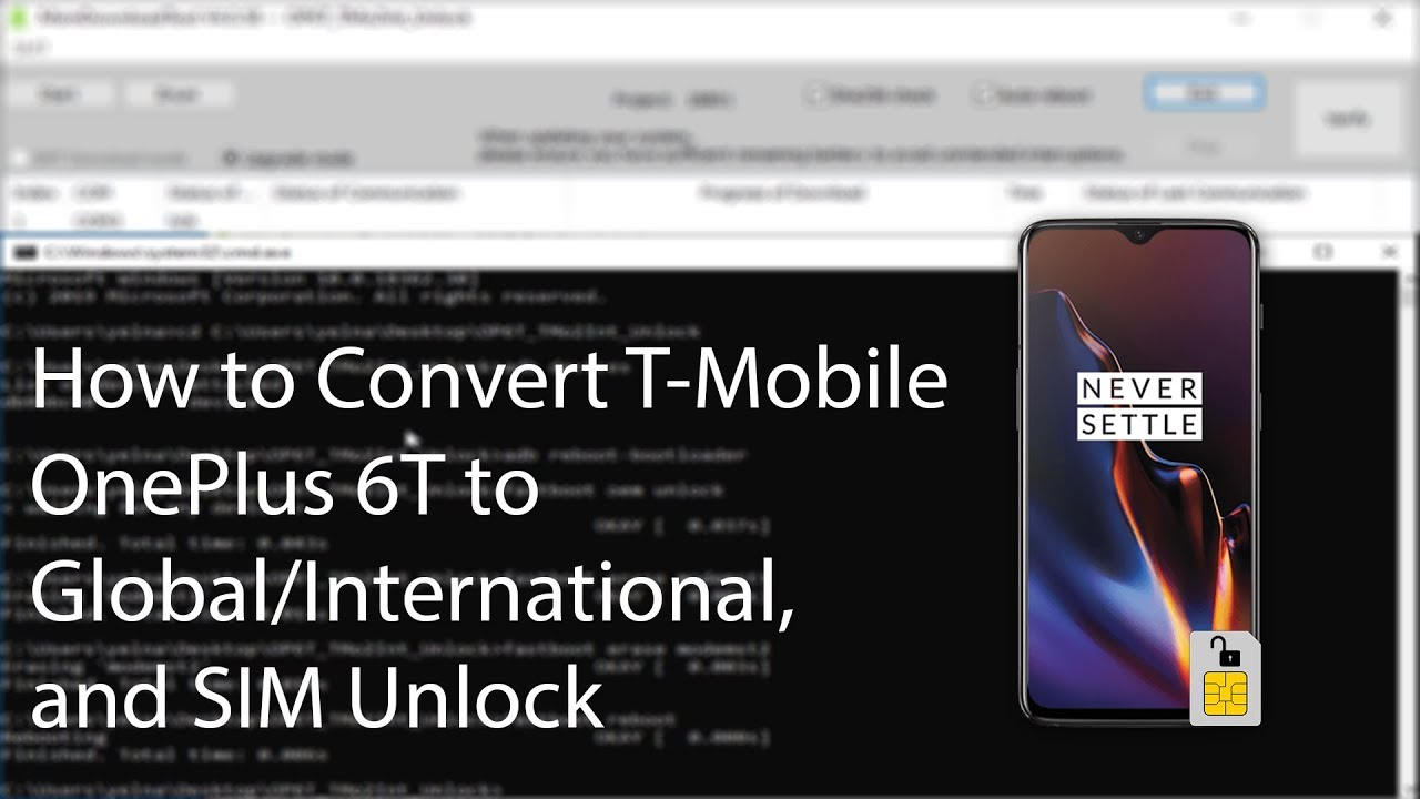 How to Convert T-Mobile OnePlus 6T to Global/International and SIM Unlock