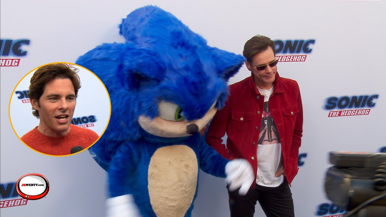Sonic the movie, Sonic the Hedehog, Jim Carrey, James Marsden, Tika Smpter, interview, world premier