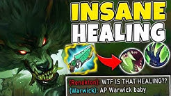 ONE Q HEALS YOU TO FULL HEALTH! AP WARWICK TOP IS HILARIOUS - League of Legends