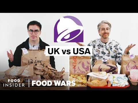 US vs UK Taco Bell | Food Wars