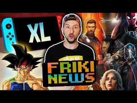 NEW NINTENDO SWITCH XL! Avengers Infinity War trailer 2, Bardock y Broly en Dragon Ball FighterZ