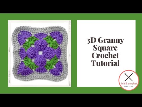 Motif Of The Month May 2013 3d Granny Square Part 1 Includes Free