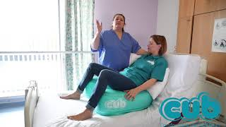 Using the CUB on the bed during labour and birth