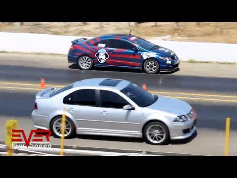 Honda Civic vs Volkswagen Jetta | Drag Races