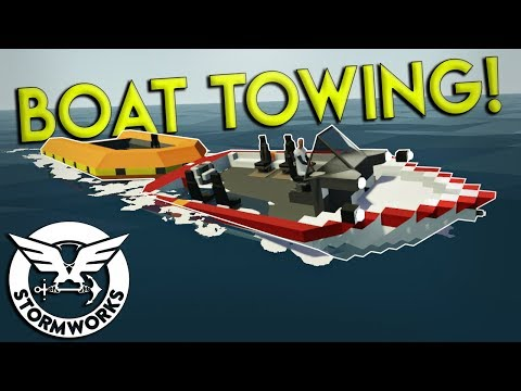 BOAT TOWING & OIL PLATFORM RESCUE! - Stormworks: Build and Rescue Gameplay - EP 3