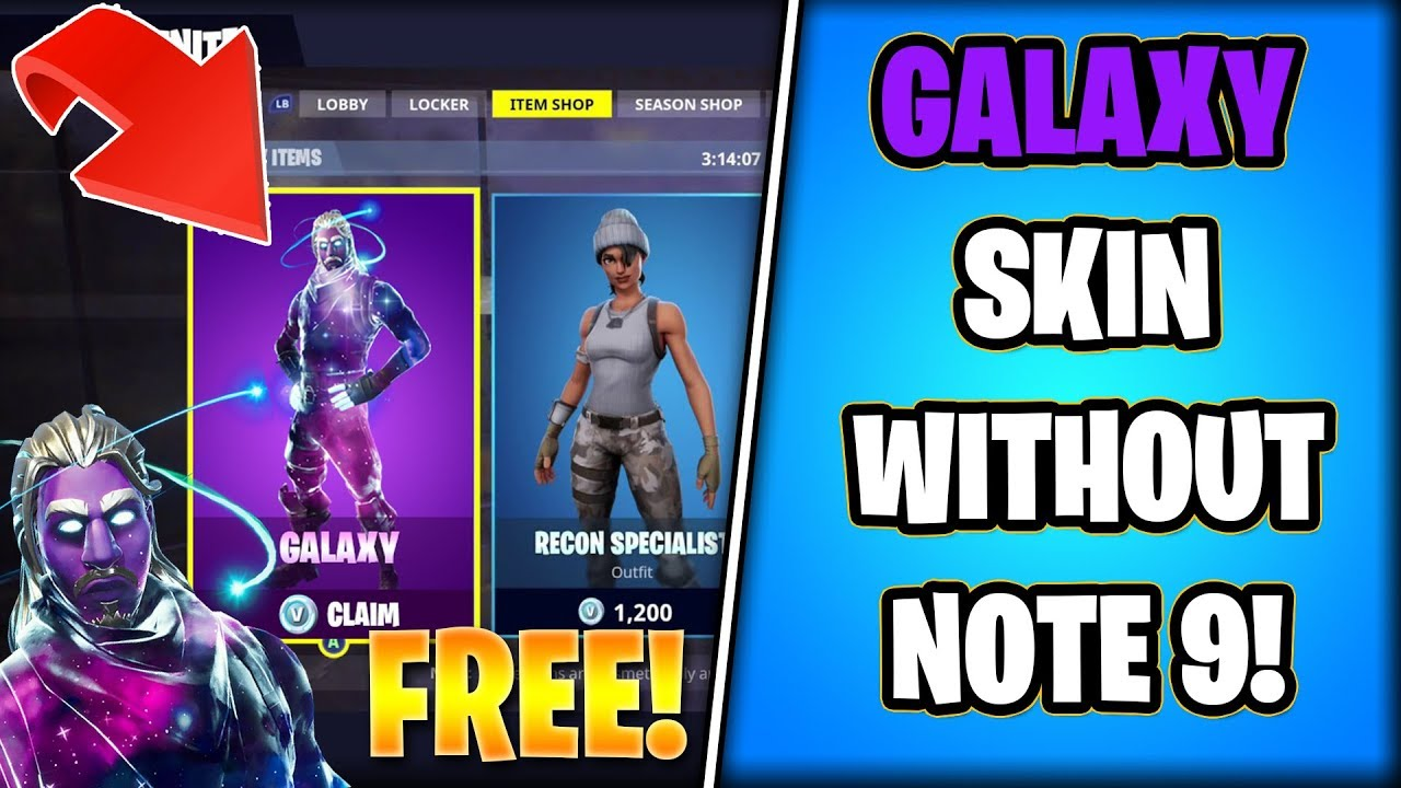 HOW to get the 'GALAXY' Skin WITHOUT Buying NOTE 9! (Store Method)