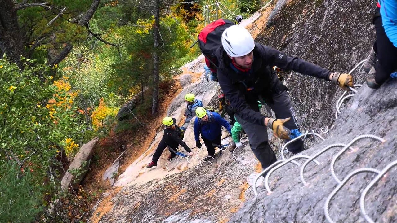 via ferrata parc national du fjord du saguenay youtube. Black Bedroom Furniture Sets. Home Design Ideas