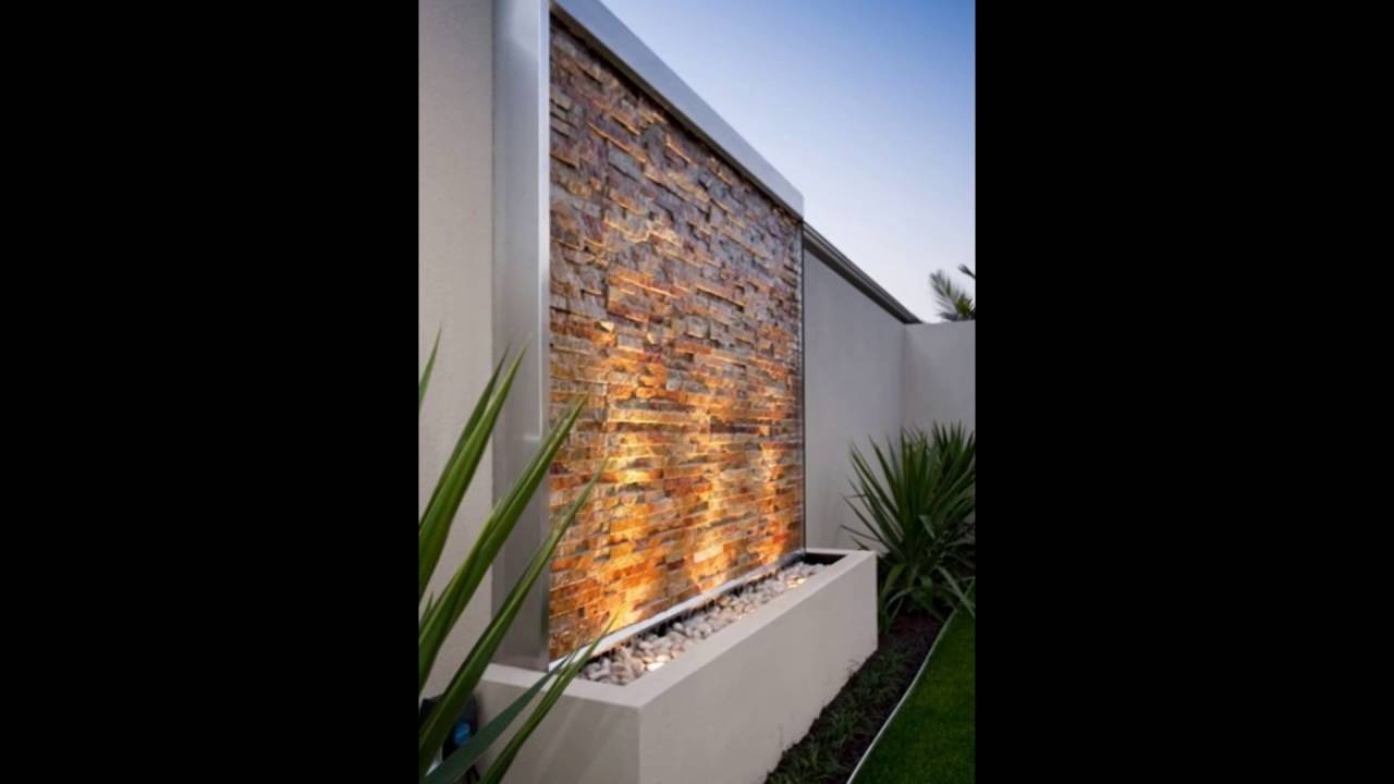 wall water feature - YouTube on Backyard Feature Walls id=55695