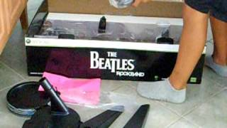 The Beatles Rockband unboxing Xbox 360