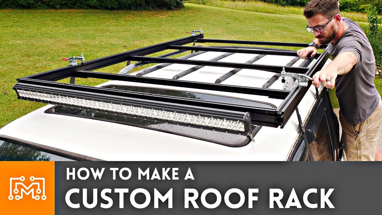 How To Make A Custom Roof Rack Youtube