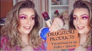TESTEZ PRODUSE DRUGSTORE | Buretel, fond de ten si pudra | Andreea B.