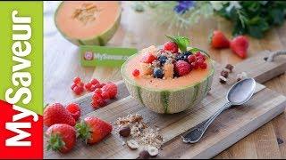 Salade de melon aux fruits rouges et dukkah sucré (la bonne cuisine des blogs)