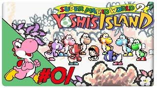 SMW2 Yoshi's Island #01: Staffellauf mit Windel-Held - Let's Play [GER]