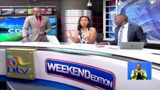 Larry Madowo and Victoria Rubadiri caught off guard on #NTVWeekendEdition