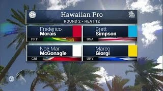 2016 Hawaiian Pro: Round Two, Heat 12