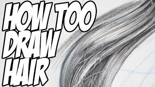 How to Draw Realistic Hair with Pencil