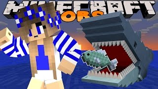 Minecraft Little Carly Adventures JAWS ATTACK w Little Kelly