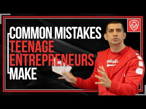 Common Mistakes Teenage Entrepreneurs Make