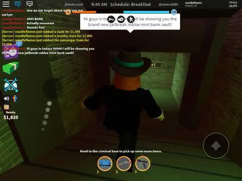 Brand New Mint Bank Vault Roblox Jailbreak Youtube - roblox jailbreak bank vault