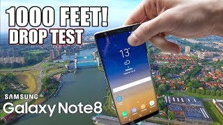 Galaxy Note 8 Drop Test from 1000 FEET!!EXTREME DROP TESTin 4K!