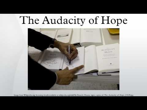 The Audacity of Hope