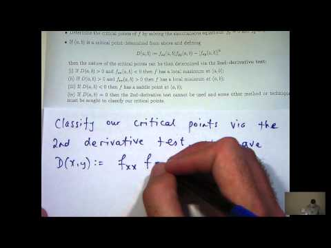 How To Find And Classify Critical Points Of Functions