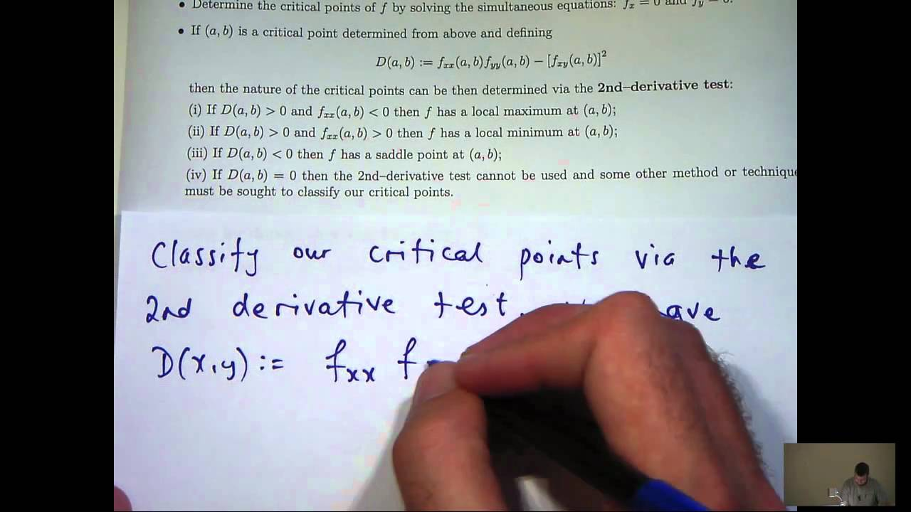 How To Find And Classify Critical Points Of Functions Youtube