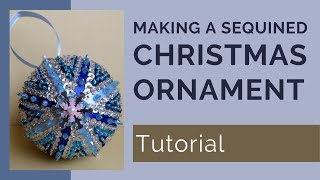 Sequined Starburst Christmas Ornament Tutorial