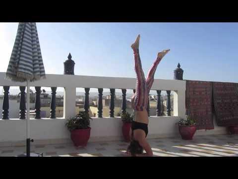 sirsasana yoga headstand with splits  walking krishna