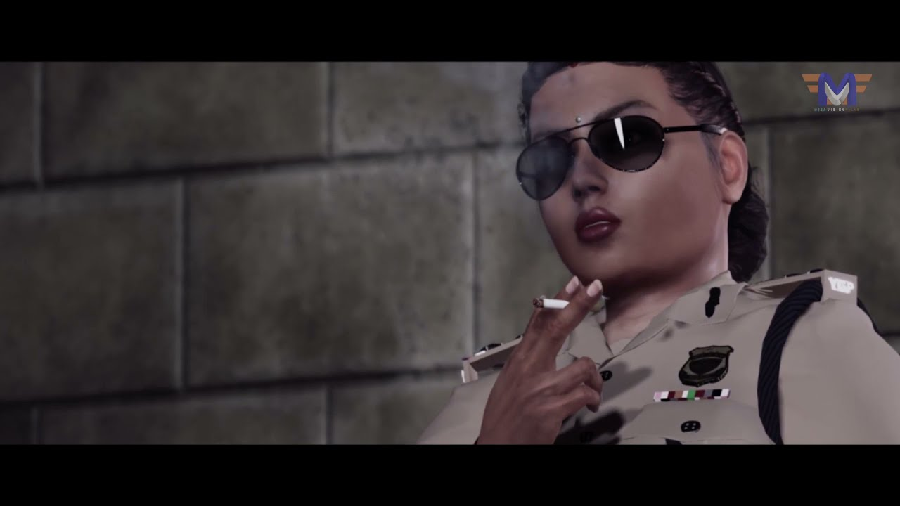 Ladycop Smoking | Realistic 3d animation (Sample Clip)