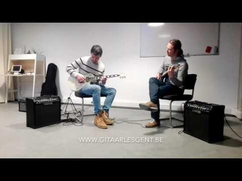 jamsessie bij gitaarschool Gitaar Training Studio Gent