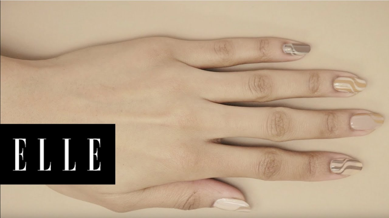 The New Neutral Nail Art | ELLE - YouTube